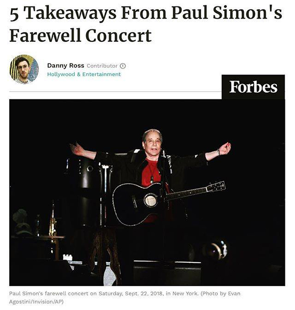 Forbes Covers Paul Simon
