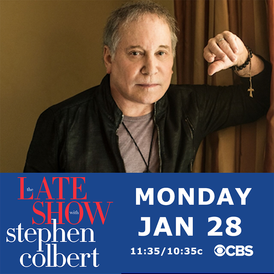Paul Simon on The Late Show with Stephen Colbert January 28, 2019