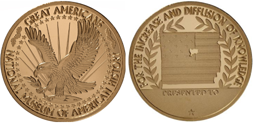 The Smithsonian's National Museum of American History Great Americans medal