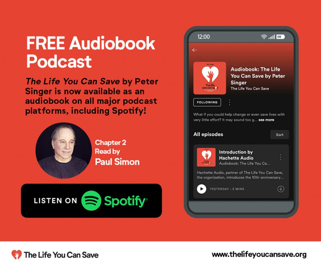 Listen To Paul Simon Narrate Peter Singer's Book, The Life You Can Save, On Spotify Podcasts