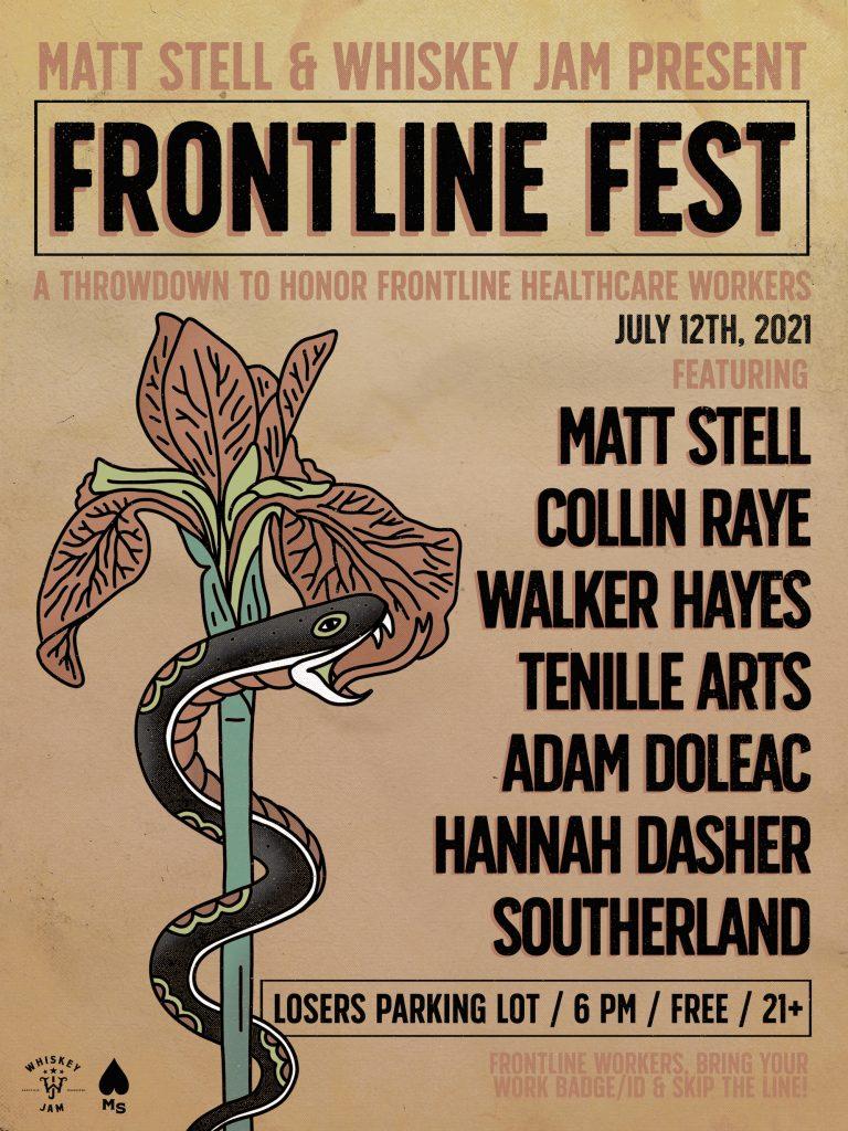MATT STELL & WHISKEY JAM PRESENT FRONTLINE FEST – MONDAY, JULY 12 IN NASHVILLE (Audio & Video)
