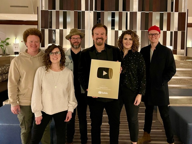 CASTING CROWNS RECOGNIZED WITH YOUTUBE GOLD PLAY BUTTON AWARD FOR SURPASSING 1 MILLION SUBCRIBERS