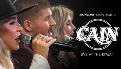 """THE DEBUT ALBUM FROM CAIN, RISE UP, IS OUT NOW! Current Single """"Yes He Can"""" Continues To Jump Up The Charts; Performing On K-LOVE On Demand's Mainstage, Live At The Ryman, May 14; CAIN Included In FENDER NEXT 2021 Class"""