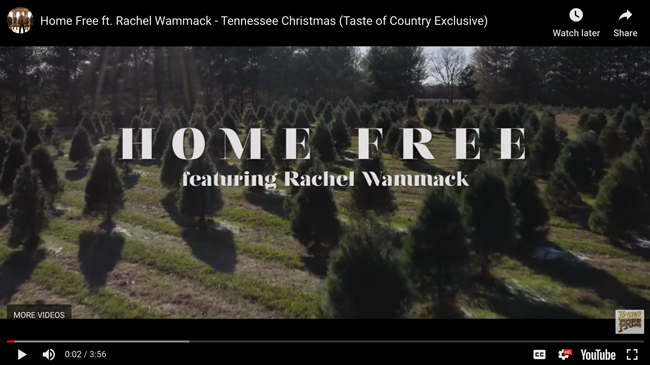 "Watch: Rachel with Home Free in ""Tennessee Christmas"" music video"