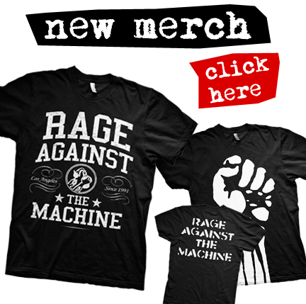 Rage Against The Machine Merchandise - International