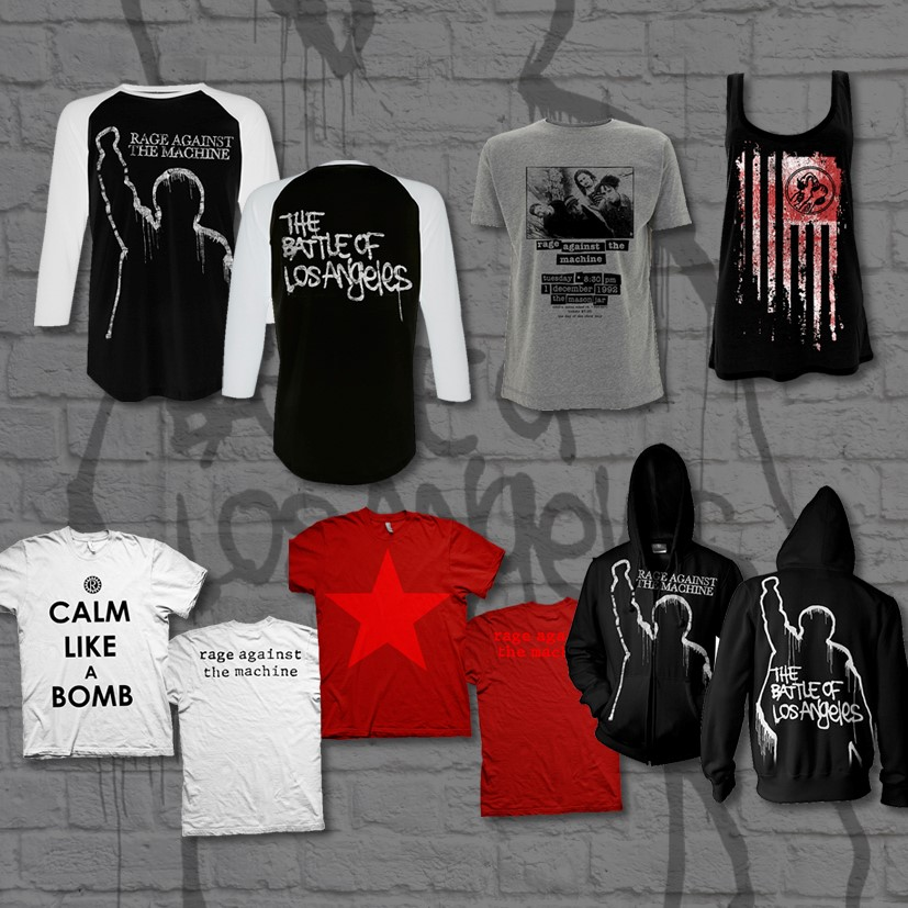 Rage Against The Machine merchandise