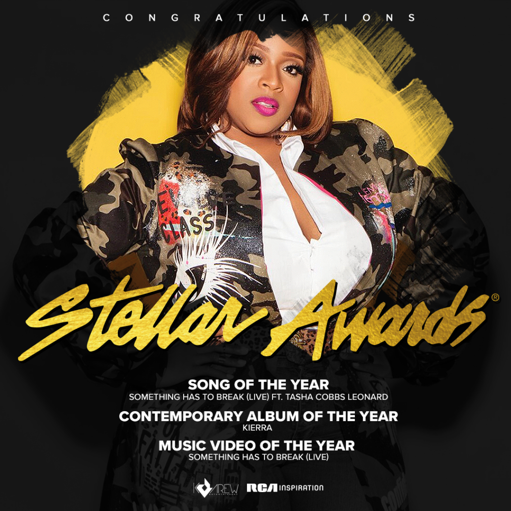 RCA INSPIRATION CELEBRATES FOUR WINS AND POWERFUL PERFORMANCES AT THE 36TH ANNUAL STELLAR AWARDS