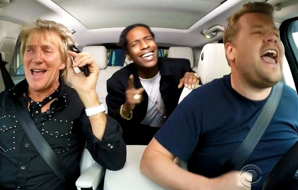 A ap rocky on the late late show with james corden rca for Car pool karaoke show