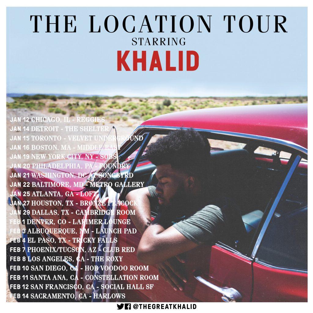 Khalid Announces Quot The Location Tour Quot Rca Records