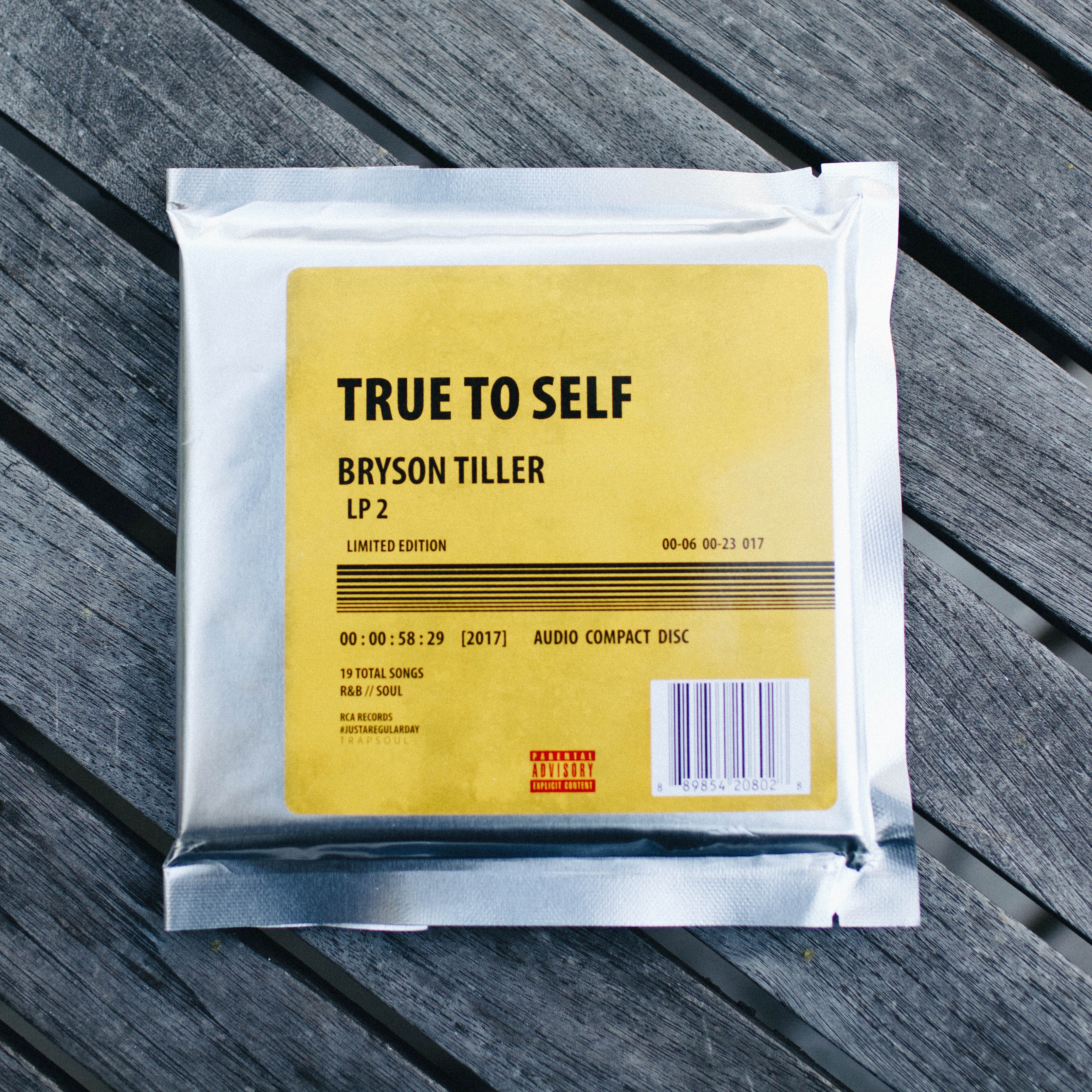 Bryson Tiller S Sophomore Album True To Self Available Physically Now Rca Records