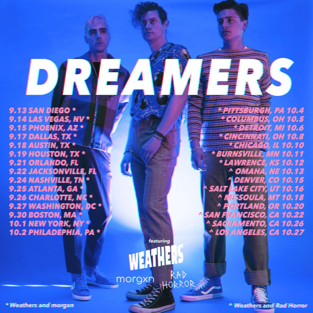 Weathers Announce Fall U S Tour With Dreamers Rca Records