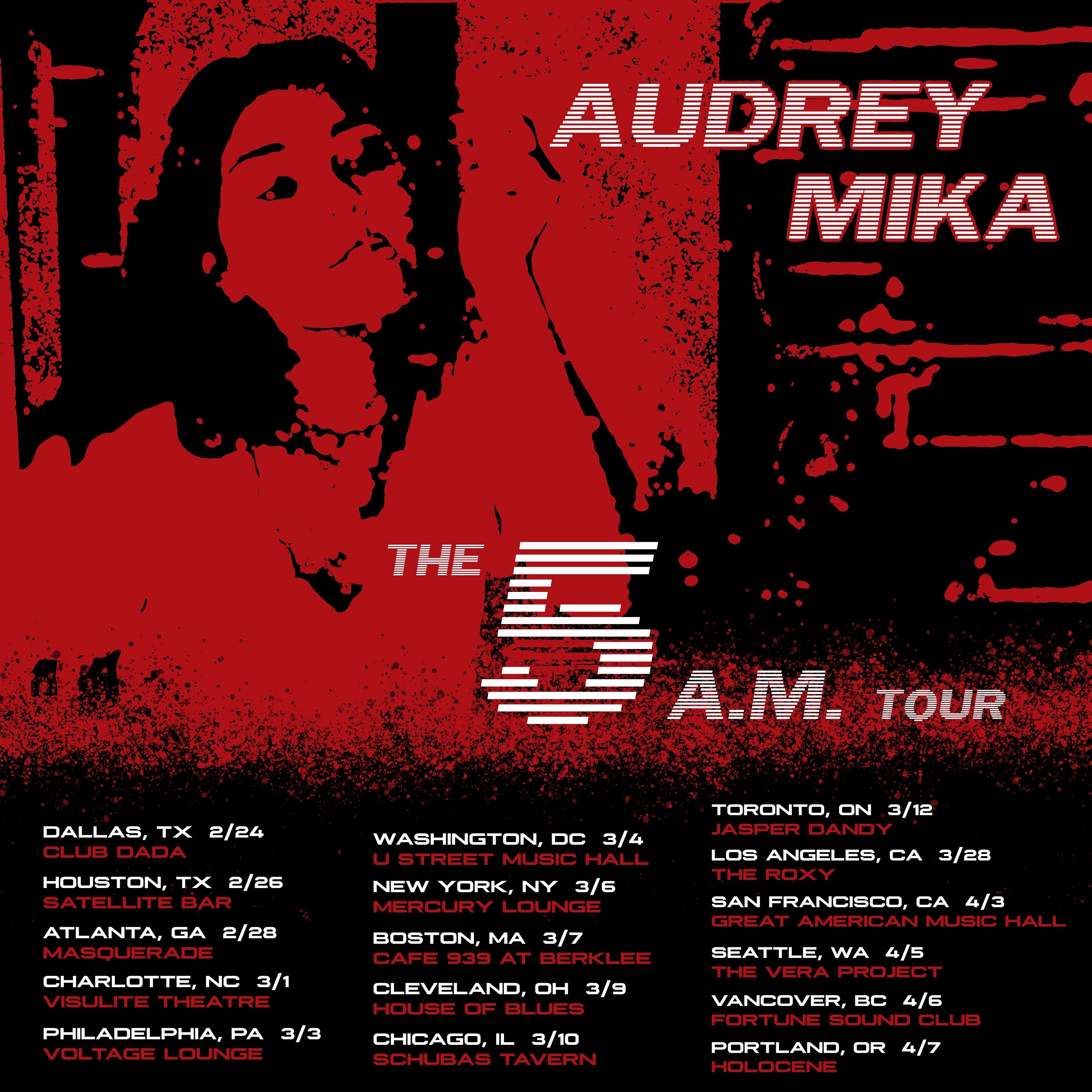 "Rising Star Audrey Mika Announces Headlining Dates For The ""5 A.M."" Tour"