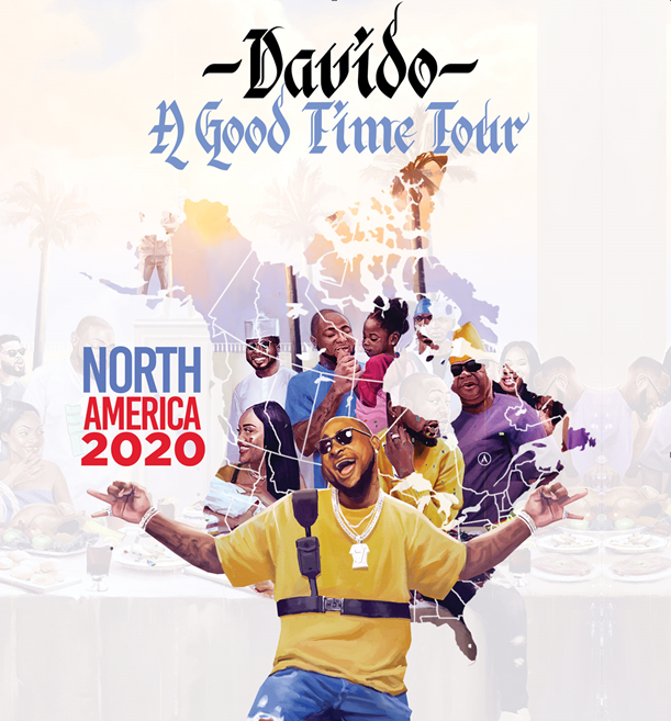 "Davido Announces His Headlining 2020 North American ""A Good Time"" Tour"
