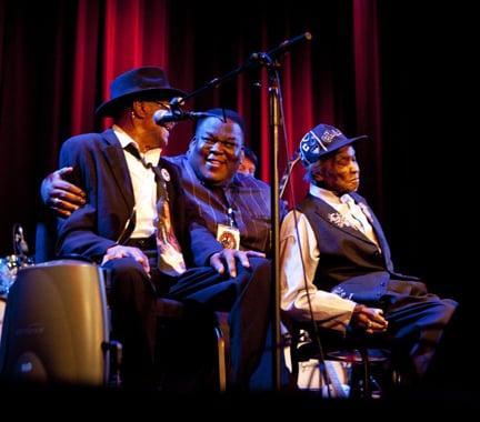 Honeyboy Edwards, Hubert Sumlin and Steven Johnson