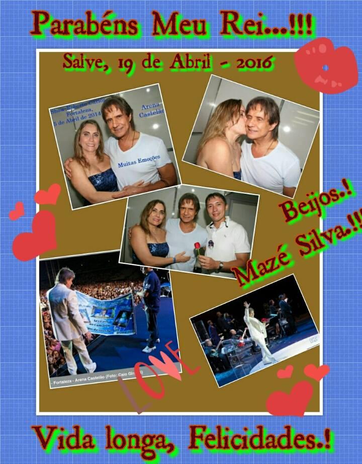 Mazé Silva - Painel com minhas fotos, Banner e Roberto no Palco