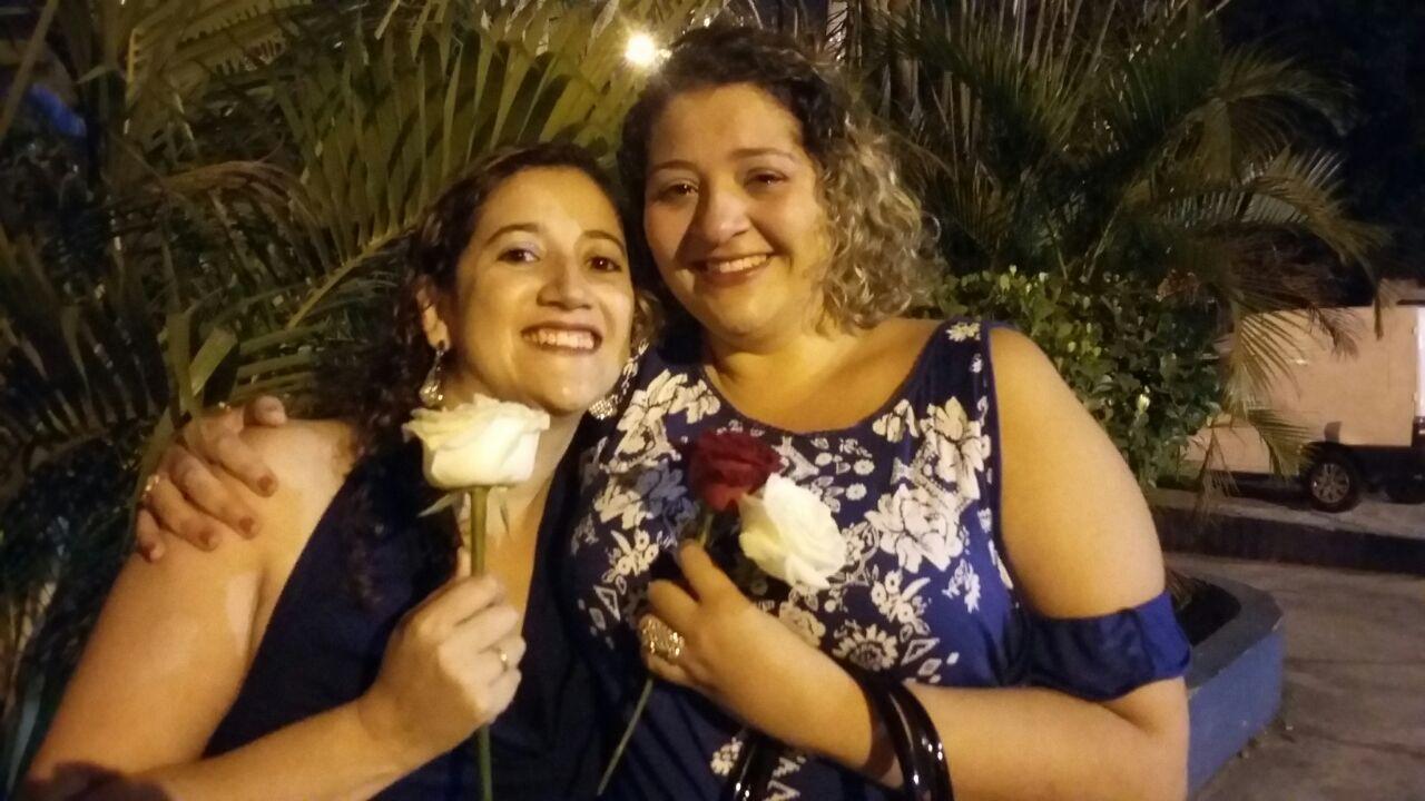 Patricia de Morais Cavalcante - Eu realizando um sonho com minha irmã Simone.