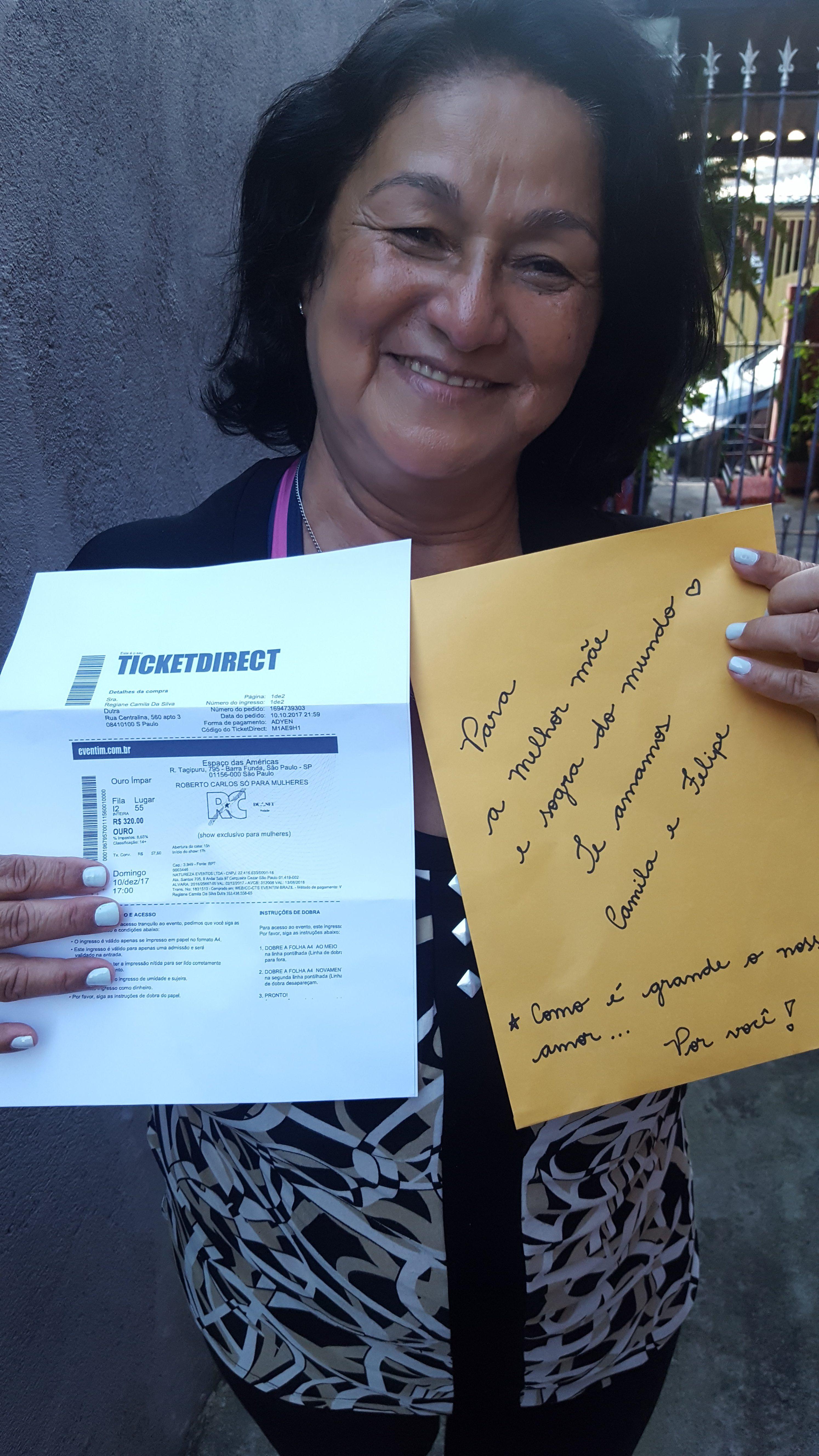 Antonia Raimunda Alves da Silva - Roberto Carlos Só para mulheres em SP! Eu vou!!!