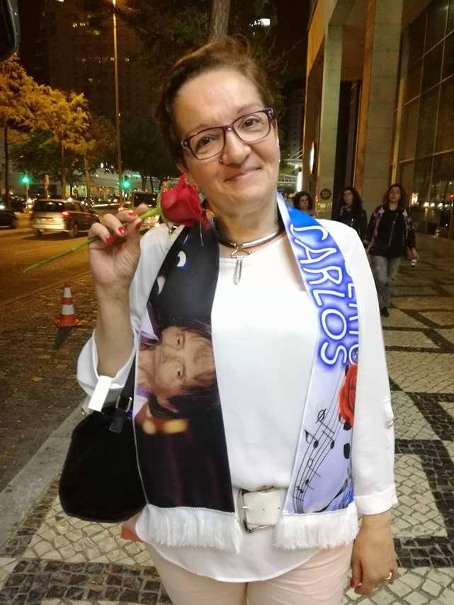Deolinda Maria Flor Nunes - Show do Rei Roberto Carlos dia 19 de Abril 76 anos