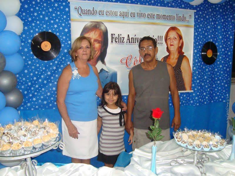 Celia Aurea de Almeida loureiro - meus 60 anos foi no tema Roberto Carlos