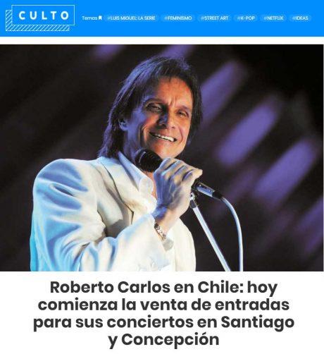 Roberto carlos en chile hoy comienza la venta de entradas for Concierto hoy en santiago