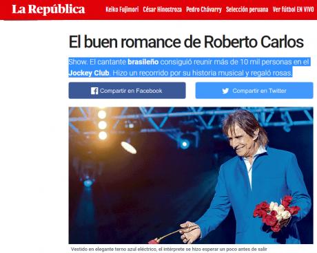 roberto carlos cantante brasileño biografia