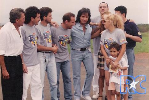 Rosinha Bastos, João Bosco, Sonsom, Derico, Valdir, Aécio, Ted, amigos e seu filho