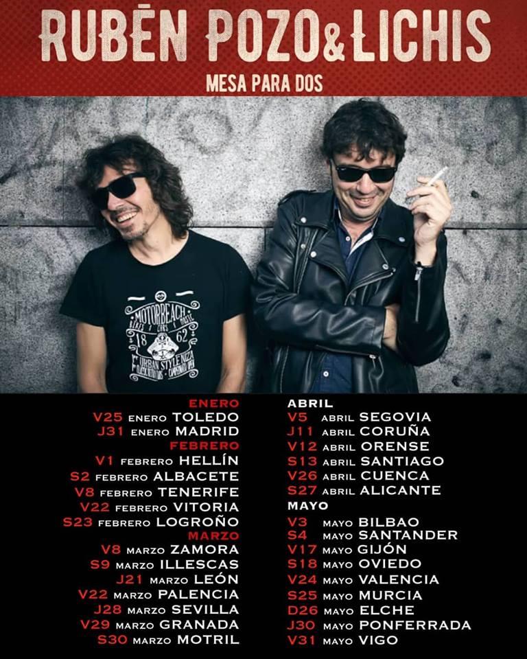 "Rubén Pozo y Lichis se unen en la gira ""Mesa para dos"""