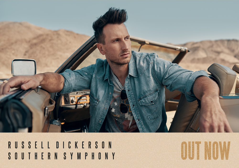 Russell Dickerson releases sophomore album Southern Symphony.