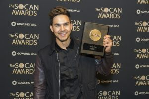 "TYLER SHAW WINS SOCAN AWARD FOR ""WICKED"""