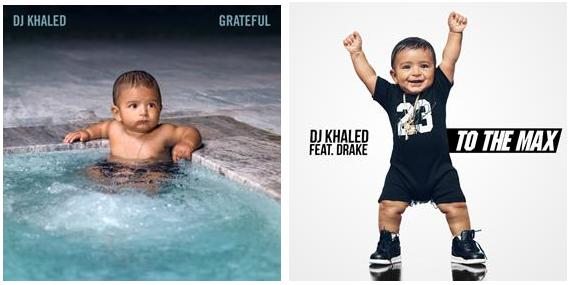 "DJ Khaled ""Grateful Album Art"" + ""To The Max"" Single Art"