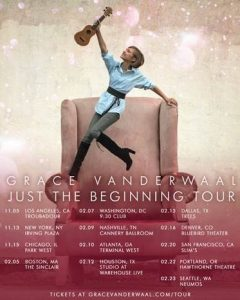 GRACE VANDERWAAL ANNOUNCES 'JUST THE BEGINNING TOUR'; TICKETS ON SALE NOW