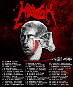 HAVOK Announce 2018 Tour Dates with Killswitch Engage and Anthrax