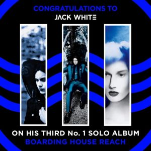 JACK WHITE'S BOARDING HOUSE REACH DEBUTS AT #1 IN CANADA