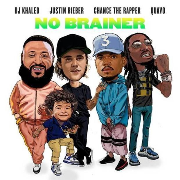 "AND ANOTHER ONE…DJ KHALED DROPS BLOCKBUSTER NEW SINGLE ""NO BRAINER"" FEATURING JUSTIN BIEBER, CHANCE THE RAPPER & QUAVO"