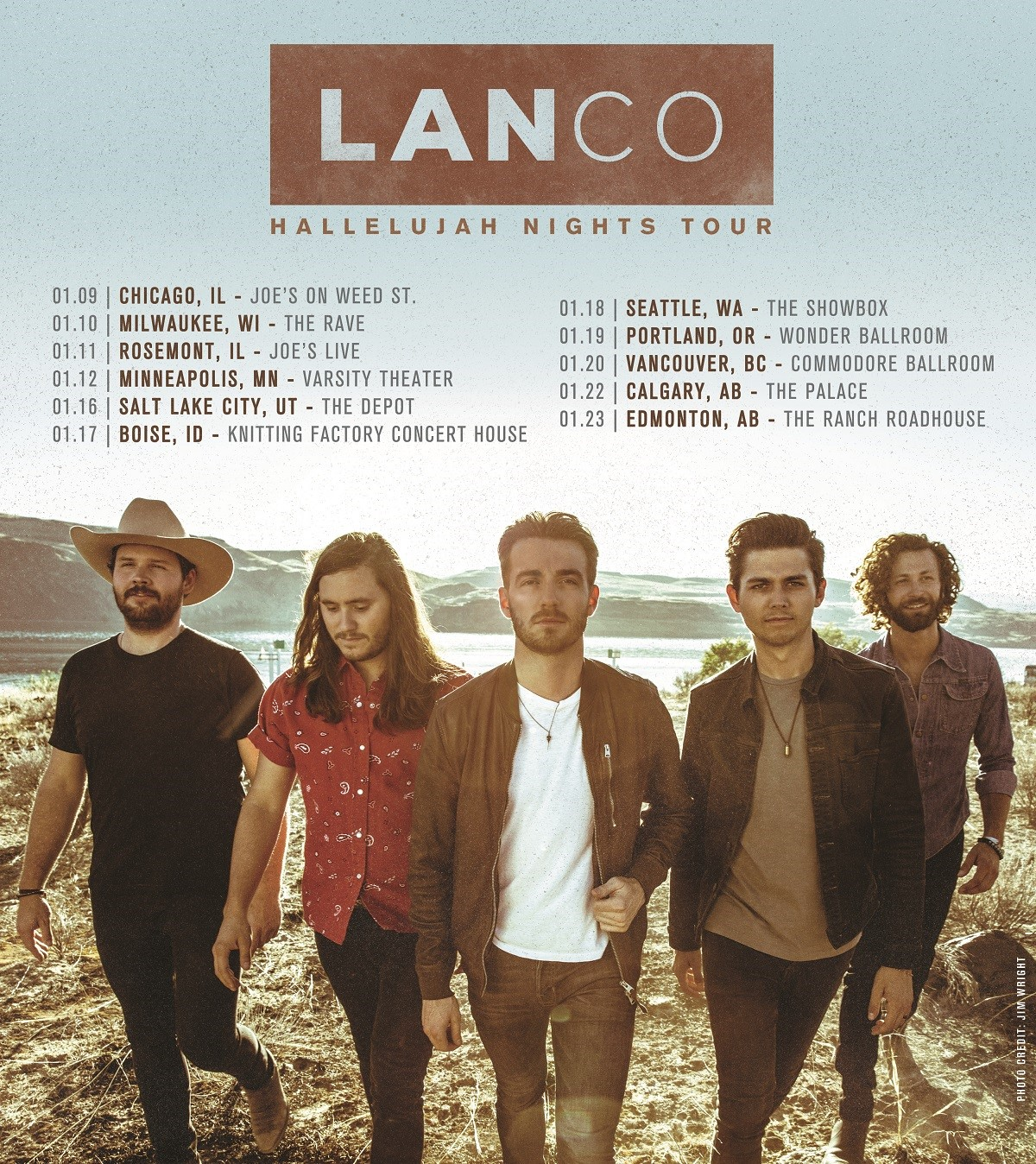 LANCO ADDS MORE DATES TO FIRST-EVER HEADLINING HALLELUJAH NIGHTS TOUR