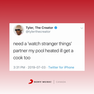 Tyler The Creator tweet.