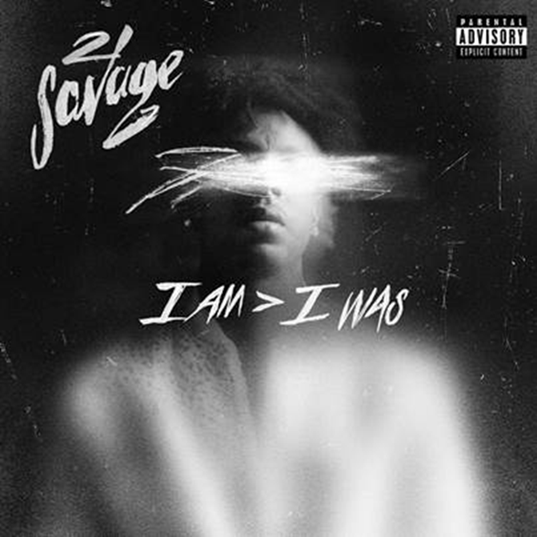 Album cover art for 21 Savage's 'I Am > I Was'