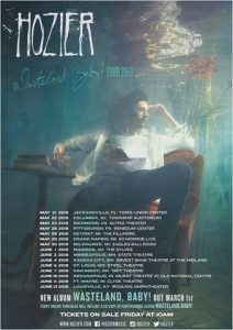 HOZIER ANNOUNCES ADDITIONAL NORTH AMERICAN TOUR DATES SLATED FOR THIS SPRING