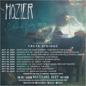HOZIER SCORES NO. 1 ON THE U.S. ALBUM CHART & NO. 1 ON THE U.S. BILLBOARD TOP 200 CHART WITH WASTELAND, BABY!