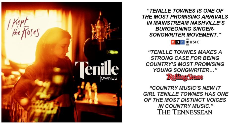 """TENILLE TOWNES' """"I KEPT THE ROSES"""" OUT TODAY"""