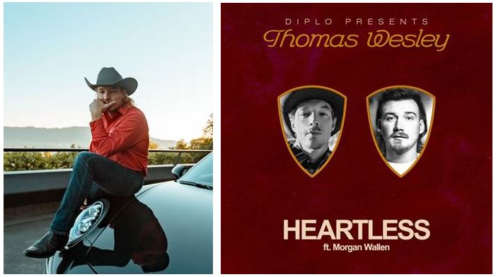 """DIPLO PREMIERES LATEST THOMAS WESLEY TRACK """"HEARTLESS"""" WITH MORGAN WALLEN"""