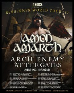 AT THE GATES – European headlining tour in December;  North American tour with Amon Amarth and Arch Enemy starting soon!
