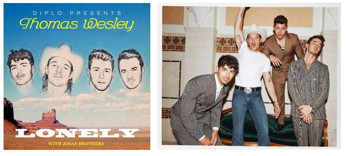 """DIPLO DEBUTS NEW THOMAS WESLEY TRACK AND VIDEO """"LONELY"""" WITH JONAS BROTHERS"""