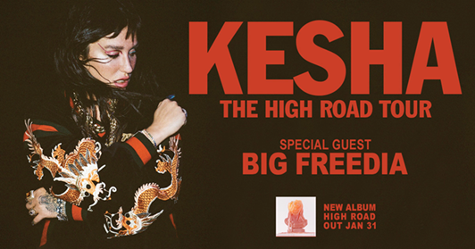 Kesha Takes the 'High Road' This Spring  on 26-Date North American Tour