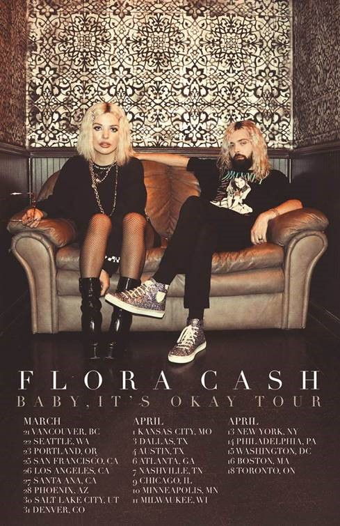 "FLORA CASH ANNOUNCE 2020 HEADLINING DATES FOR ""BABY, IT'S OKAY"" TOUR"