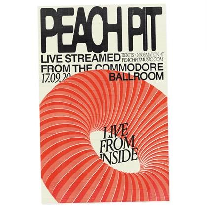 PEACH PIT ANNOUNCES LIVESTREAM PERFORMANCE FROM THE COMMODORE BALLROOM ON SEPTEMBER 17 AS PART OF THE LIVE NATION 'LIVE FROM INSIDE' SERIES