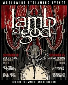 LAMB OF GOD Announce Two Massive Worldwide Streaming Events.