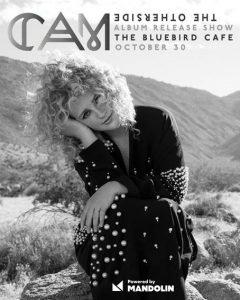 Cam poses for album release show posterat The Bluebird