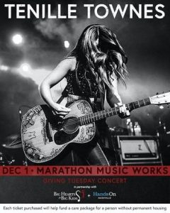 TENILLE TOWNES CONFIRMS GIVING TUESDAY CONCERT AT NASHVILLE'S MARATHON MUSIC WORKS