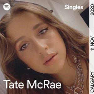 Tate McRae Spotify Singles cover